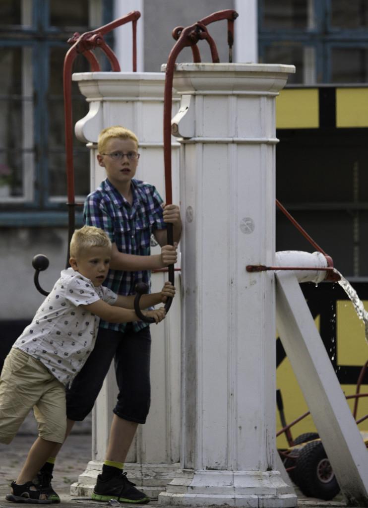 Vandpumperne på Torvet i Ærøskøbing