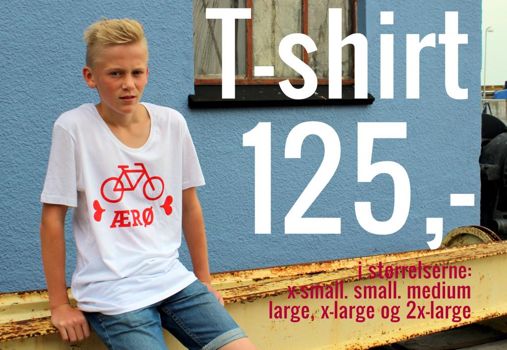 Ærø Elsker Cykler - T-shirt - ærø.dk - Foto Bjørg Kiær