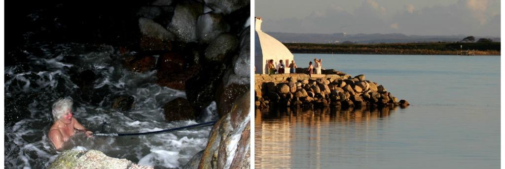 De Ærøske Vinterbadere. På Ærø bades der hele året rundt og De Ærøske Vinterbadere går i vandet fra BP Huset på Ærøskøbing Havn.